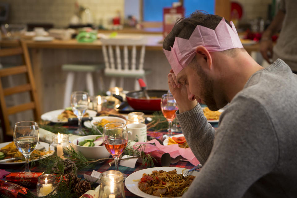 The stress of family get togethers and over indulgence could contribute to the increased heart attack risk [Photo: Getty]