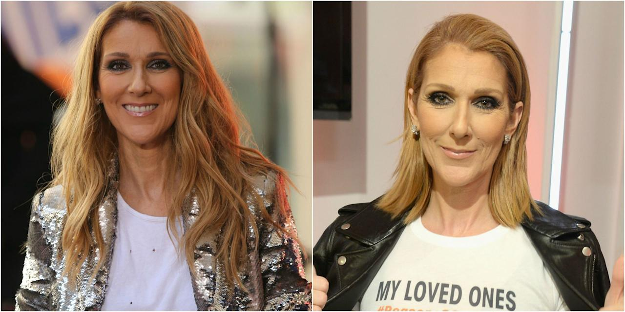 """<p>Canada's most famous singer just changed up hersignature long hair. Now, it's styled intoa sleek, shoulder-grazing lob. Celine Dion debuted thenew cut at an event forStand Up to Cancer, ameaningful cause for hergiven the tragic loss of her husband and manager <a rel=""""nofollow"""" href=""""https://ec.yimg.com/ec?url=http%3a%2f%2fwww.goodhousekeeping.com%2flife%2frelationships%2fg3070%2fceline-dion-rene-angelil-romance%2f%26quot%3b%26gt%3bRen%c3%a9&t=1506228751&sig=WzVcQufsjWHoAQyxgR4_kw--~D Angélil</a>to throat cancer earlier this year. Her outfit featured ashirt thatreads, """"My Loved Ones #Reasons2StandUp.""""</p>"""