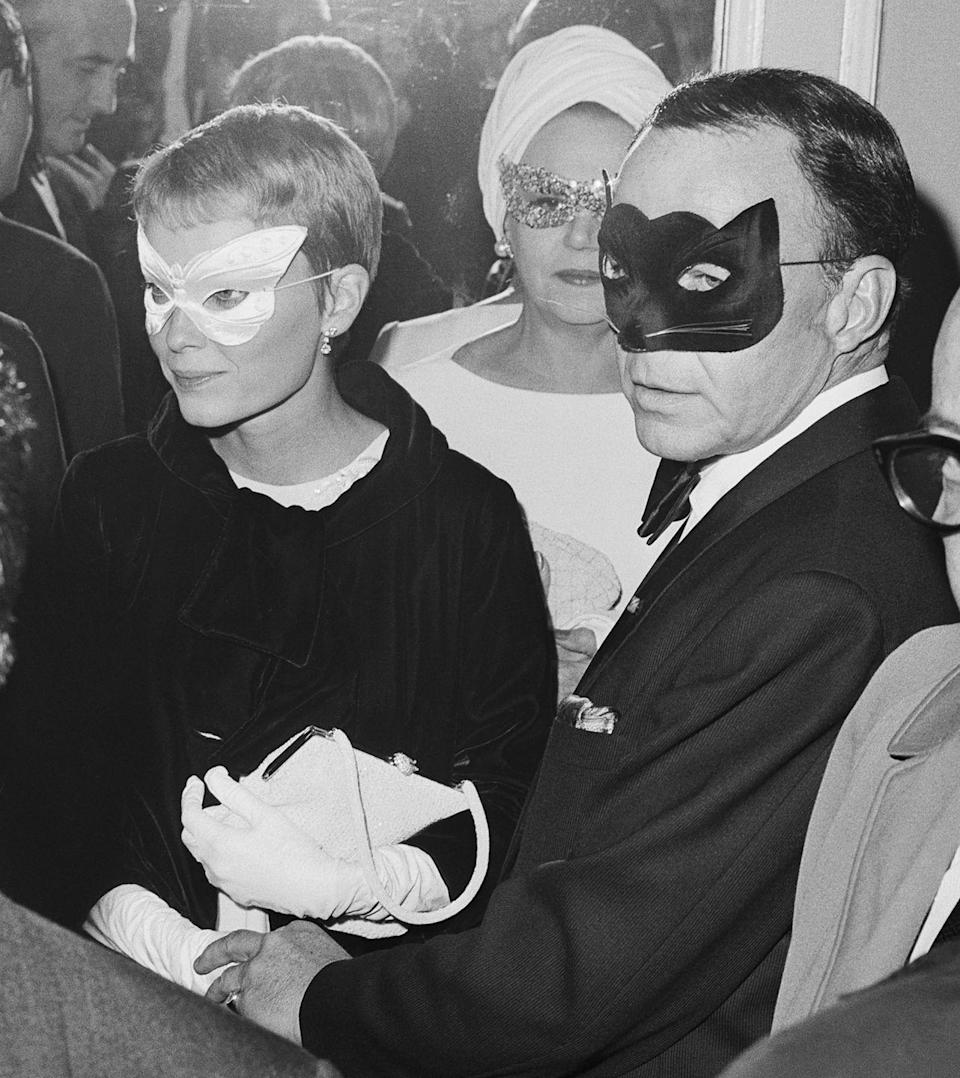 <p>Farrow and Sinatra were counted amongst Truman Capote's close friends, as they attended his famous Black and White Ball in November 1966. </p>