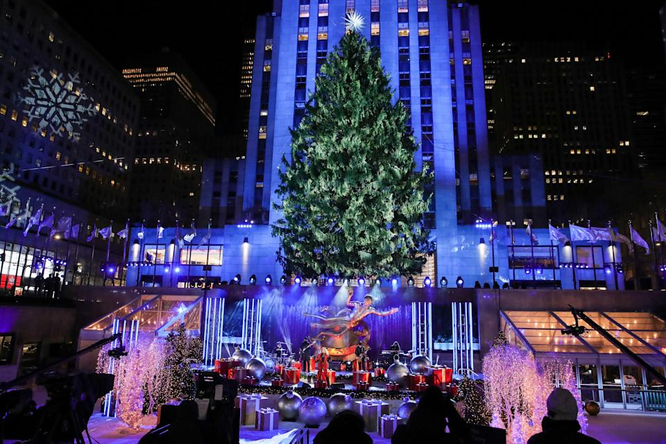 Tori Kelly performs during the 88th Annual Rockefeller Center Christmas Tree Lighting Ceremony at Rockefeller Center on Dec. 2, 2020, in New York City.