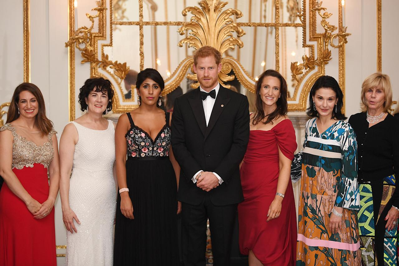 The 33-year-old royal was very suave in a tuxedo and black bowtie for the annual event which this year raised money for Wellchild, a foundation helping children get out of hospital.