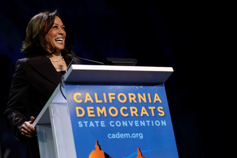 Sen. Kamala Harris at the California Democratic Convention in San Francisco on June 1. (Photo: Stephen Lam/Reuters)