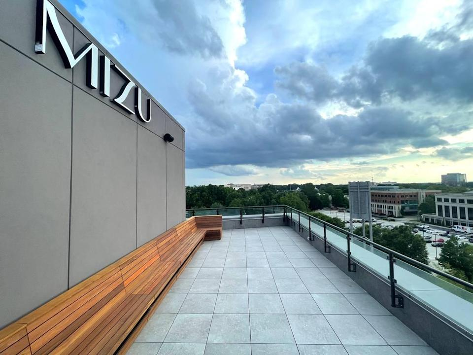 Mizu, the Hyatt Centric SouthPark Charlotte's rooftop restaurant that opens in August, will offer live-fire cooking atop the new hotel.