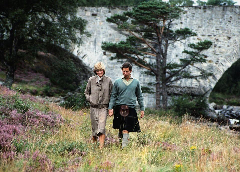 "<p>Charles and Diana also <a href=""https://www.townandcountrymag.com/society/tradition/g2143/royal-honeymoon-destinations"" rel=""nofollow noopener"" target=""_blank"" data-ylk=""slk:spent their honeymoon at Balmoral."" class=""link rapid-noclick-resp"">spent their honeymoon at Balmoral.</a></p>"