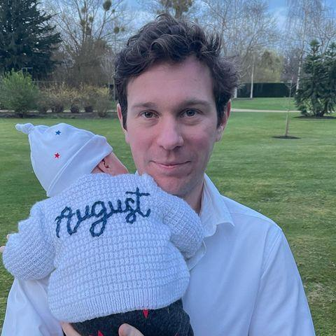 """<p>In honor of Jack Brooksbank's birthday, Princess Eugenie shared a few new snaps of her husband, a few which included baby August. </p><p><a href=""""https://www.instagram.com/p/CObAKuGlWSn/?utm_source=ig_embed&utm_campaign=loading"""" rel=""""nofollow noopener"""" target=""""_blank"""" data-ylk=""""slk:See the original post on Instagram"""" class=""""link rapid-noclick-resp"""">See the original post on Instagram</a></p>"""
