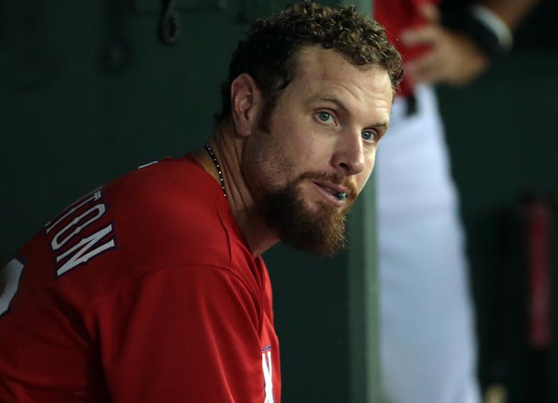 Josh Hamilton spent more time in center field than you think. (Photo by Rick Yeatts/Getty Images)
