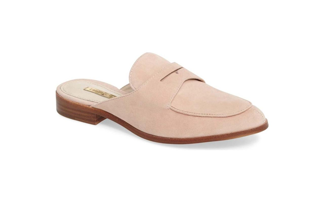 """<p>Pale pink is in this season, and it looks so chic on this comfy mule that's made for walking.</p><p>To buy: <a rel=""""nofollow"""" href=""""https://click.linksynergy.com/fs-bin/click?id=93xLBvPhAeE&subid=0&offerid=390098.1&type=10&tmpid=8158&RD_PARM1=http%3A%2F%2Fshop.nordstrom.com%2Fs%2Flouise-et-cie-dugan-flat-loafer-mule-women%2F4456864&u1=TLFASG1TravelFlatsDZApr1"""">nordstrom.com</a>, $110</p>"""