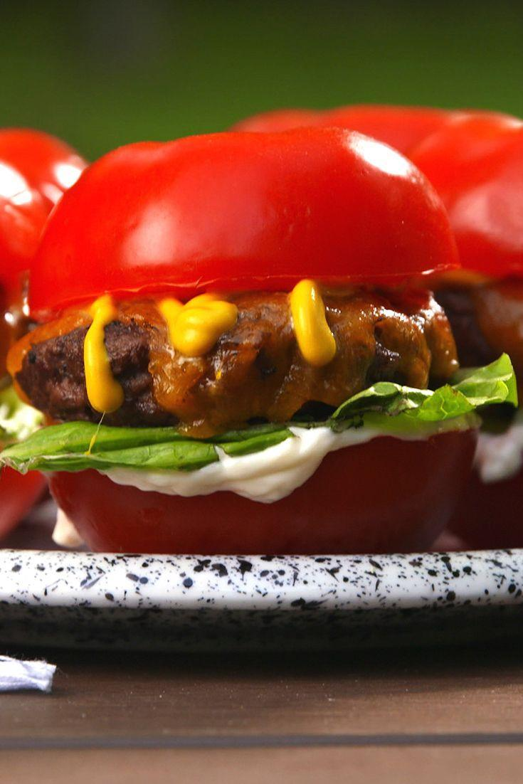 "<p>Tastes like summer. 😎</p><p>Get the recipe from <a href=""https://www.delish.com/cooking/recipe-ideas/recipes/a53185/tomato-bun-sliders-recipe/"" rel=""nofollow noopener"" target=""_blank"" data-ylk=""slk:Delish"" class=""link rapid-noclick-resp"">Delish</a>.</p>"