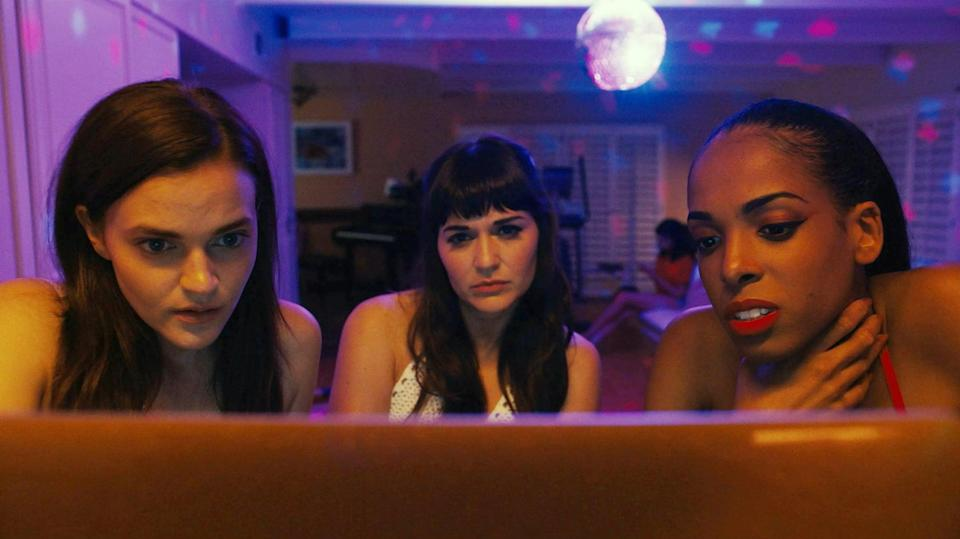 """<p>This psychological horror is set in the world of webcam pornography, starring Madeline Brewer as an erotic cam girl who finds her popular channel hijacked by a look-alike. <strong>Cam</strong> is one of the few films about sex work written by a former sex worker, and it's sure to keep you guessing until the very end. </p> <p><a href=""""http://www.netflix.com/title/80177400"""" class=""""link rapid-noclick-resp"""" rel=""""nofollow noopener"""" target=""""_blank"""" data-ylk=""""slk:Watch Cam on Netflix"""">Watch <strong>Cam</strong> on Netflix</a>. </p>"""