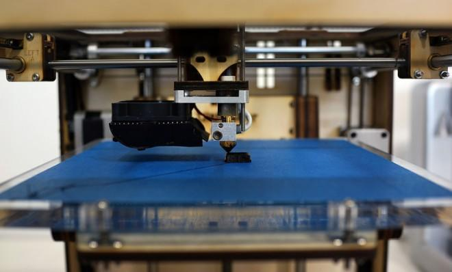 """An Ultimaker 3D printer at """"New Lab,"""" an advanced manufacturing hub in Brooklyn."""