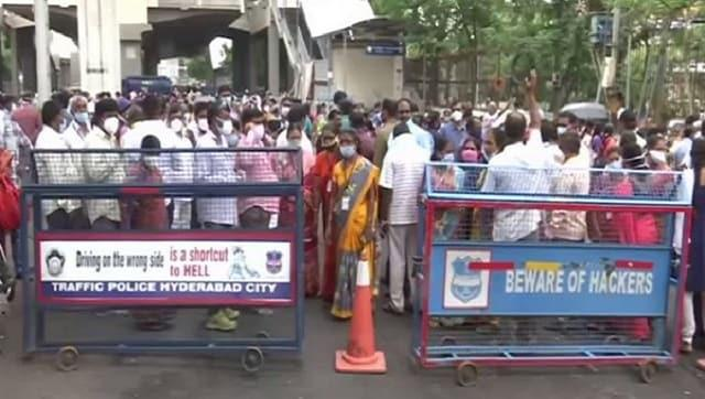Outsourced employees of Hyderabad's Gandhi Hospital stage protest, demand permanent jobs