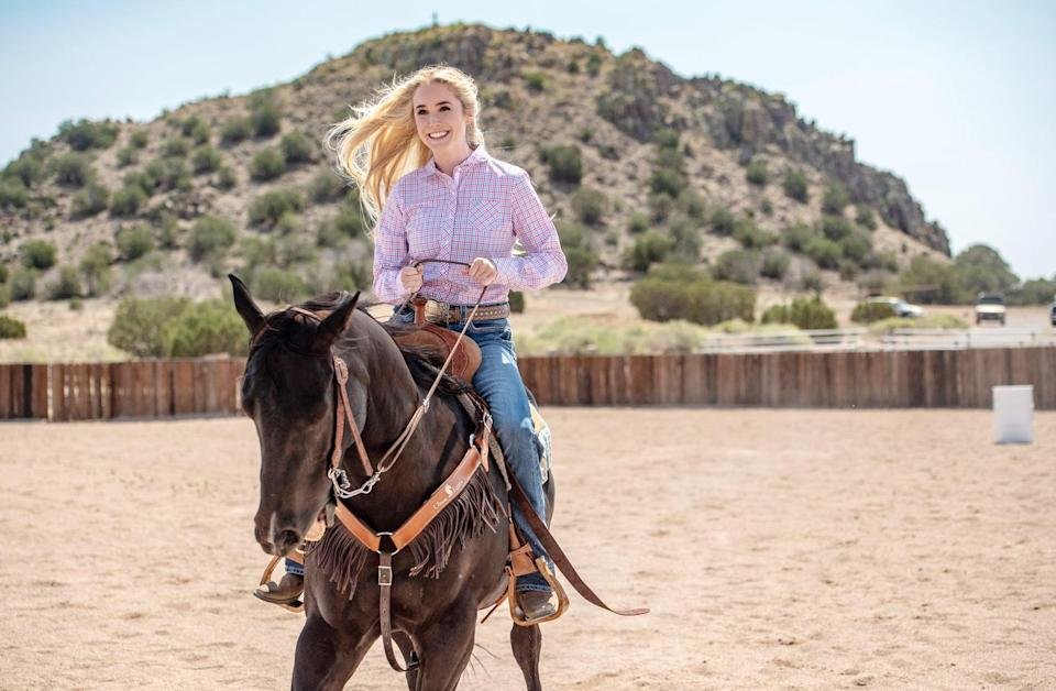 """<p>After a terrible car accident, Amberley Snyder is worried about whether she'll ever walk again, let alone race. Determined to continue the sport she loves, Amberley works tirelessly to get back in the saddle.</p> <p><a href=""""http://www.netflix.com/title/80995799"""" class=""""link rapid-noclick-resp"""" rel=""""nofollow noopener"""" target=""""_blank"""" data-ylk=""""slk:Watch Walk. Ride. Rodeo. on Netflix now."""">Watch <strong>Walk. Ride. Rodeo.</strong> on Netflix now.</a></p>"""