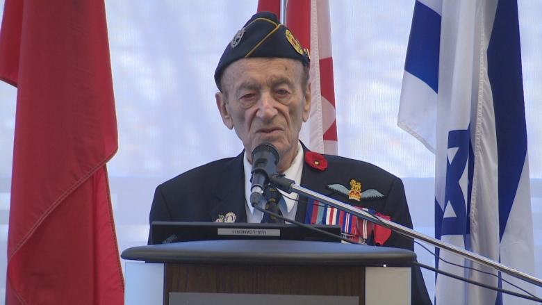Jewish-Canadian veteran, 93, shares his story so youth can 'do better than we did'