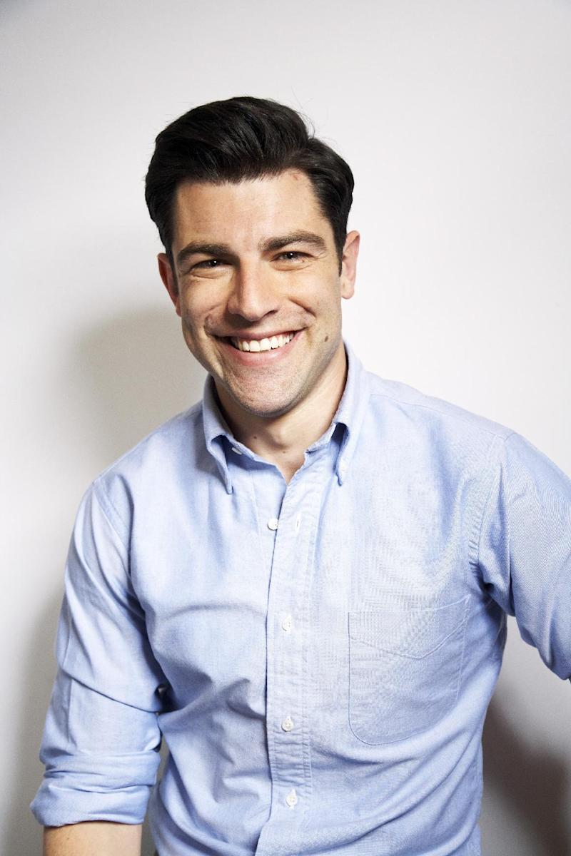 """FILE - This Jan. 29, 2013 photo shows actor Max Greenfield from the Fox comedy series """"New Girl,"""" in New York. Greenfield, who's been nominated for an Emmy and a Golden Globe for his role as Schmidt on the Fox comedy """"New Girl,"""" says he isn't worried about being typecast. Schmidt is a vain, oversexed ladies man with major obsessive-compulsive disorder. He makes frequent references to his Jewish heritage. The character could be unlikable, but Greenfield's portrayal of Schmidt makes many viewers root for him. (Photo by Dan Hallman/Invision/AP)"""