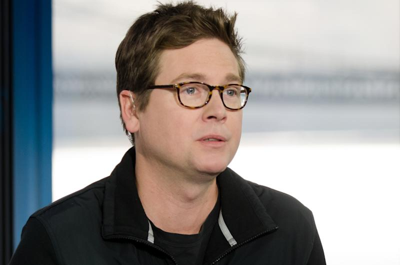 SQUAWK ON THE STREET -- Pictured: Biz Stone, co-founder of Twitter, Inc., in an interview at CNBC's San Francicso bureau, on May 13, 2015 -- (Photo by: John Chiala/CNBC/NBCU Photo Bank/NBCUniversal via Getty Images)