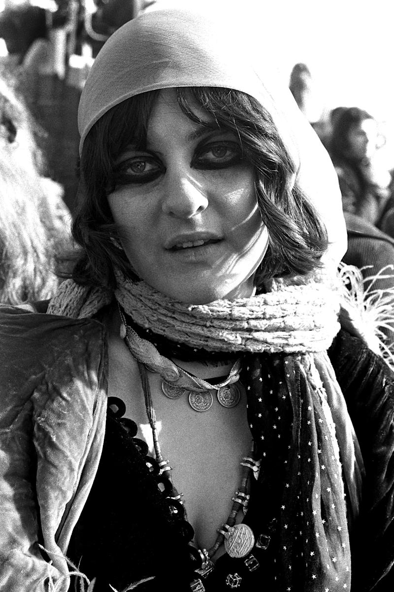 Mercy Fontentot of the GTO's at Altamont Speedway on Dec. 6, 1969 in Livermore, Calif. (Photo: Robert Altman/Michael Ochs Archives/Getty Images)