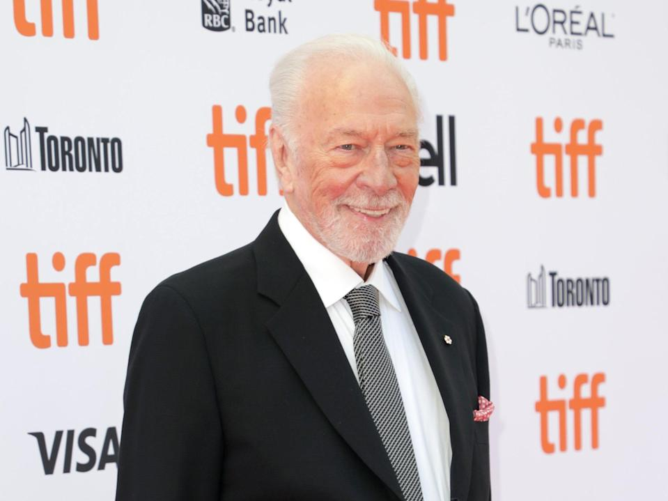 Christopher Plummer attends the 'Knives Out' premiere during the 2019 Toronto International Film Festival on 7 September 2019 in Toronto, Canada (Joe Scarnici/Getty Images)