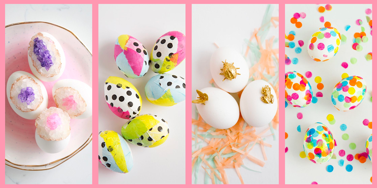 "<p>Fact: Whether everyone grabs their <a href=""https://www.oprahmag.com/life/g30506642/easter-basket-ideas/"" target=""_blank"">DIY baskets</a> and sets out on a hunt or not, an <a href=""https://www.oprahmag.com/life/g31209277/easter-party-ideas/"" target=""_blank"">Easter party</a> just isn't complete without decorated eggs. But where do you start when your attention really should be on <a href=""https://www.oprahmag.com/life/g30446380/easter-brunch-ideas/"" target=""_blank"">menu planning</a>? </p><p>While it's true that the dye kits sold in stores make a worthy option—they're easy and convenient—they don't necessarily yield the most creative shells. That's where paint comes in. When decorating Easter eggs, you can use any craft paint, really—acrylic, watercolor, puff paint, and even spray paint. </p><p>No matter what kind of paint you use, just be sure to ""blow out"" the eggs before you get to work if you want to keep your masterpiece for future Easter celebrations. It's easy: Simply use a pin to prick a hole in each end of the egg. Then, positioning yourself over a bowl, put your mouth around the top hole and blow. With a little force, the yolk and whites will run out of the hole into the bowl you've set beneath it. (Use that goodness for scrambled eggs!) </p><p>Can't wait to get started? Check out the easy egg painting and decorating ideas below for inspiration. </p>"