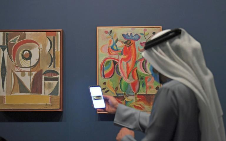 Curator Sultan Sooud Al-Qassemi pictured at Sharjah Art Museum