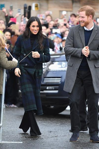 The couple visited the Scottish capital on Tuesday.