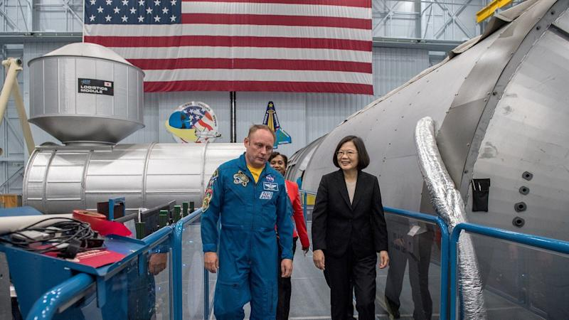 United States 'plays Taiwan card' with Tsai Ing-wen's trip to Nasa's mission control centre