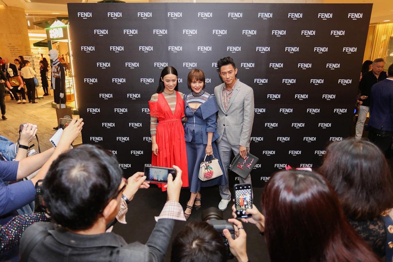 <p>Rebecca Lim, Zoe Tay and Desmond Tan. (Photo: Don Wong) </p>