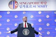 In a blocbusting press conference after the summit, President Donald Trump said the US would halt joint military exercises with Seoul