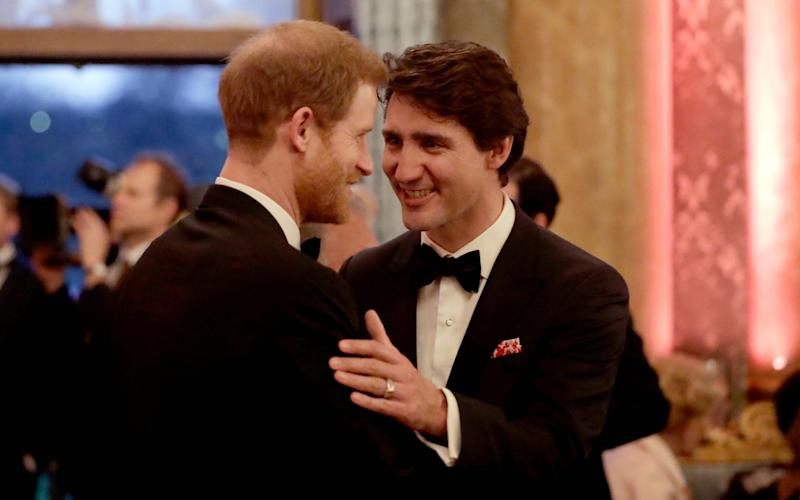 Prince Harry and Justin Trudeau have met on many occasions - AP POOL