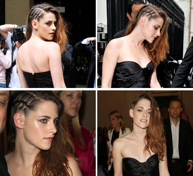 Crazy For Cornrows! Kristen Stewart Edges Up Her Hair With A Side Braid