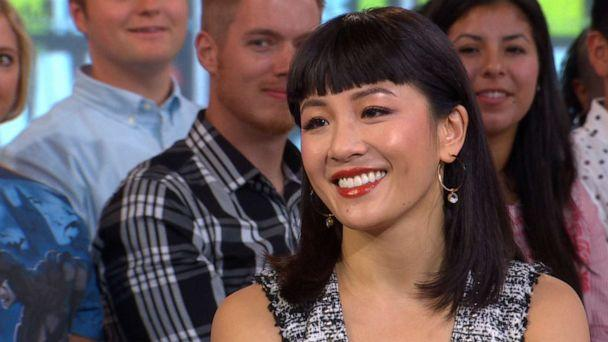 PHOTO: Constance Wu joins 'Good Morning America' to talk about her new movie 'Hustlers,' Sept. 4, 2019. (ABC News)