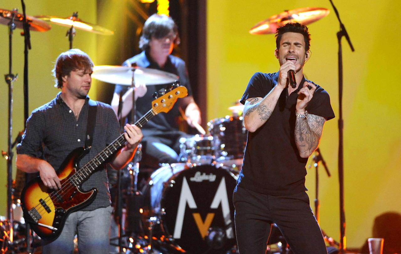 Maroon 5 feat. Wiz Khalifa, 'Payphone' (PictureGroup/Rex Features)