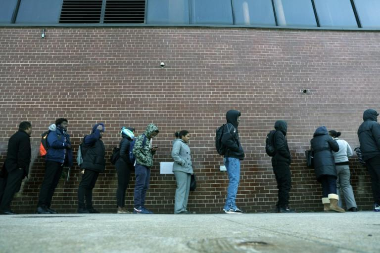 Unemployment in the United States was at low levels not seen in decades before the coronavirus struck, but now jobless benefit claims have increased by millions (AFP Photo/SPENCER PLATT)