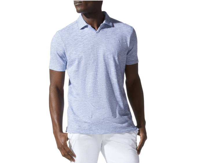 """<p><strong>GOOD MAN BRAND</strong></p><p>nordstrom.com</p><p><strong>$108.00</strong></p><p><a href=""""https://go.redirectingat.com?id=74968X1596630&url=https%3A%2F%2Fwww.nordstrom.com%2Fs%2Fgood-man-brand-heathered-stripe-polo%2F5872716&sref=https%3A%2F%2Fwww.menshealth.com%2Ftechnology-gear%2Fg19521968%2Fcool-gifts-for-dad%2F"""" rel=""""nofollow noopener"""" target=""""_blank"""" data-ylk=""""slk:BUY IT HERE"""" class=""""link rapid-noclick-resp"""">BUY IT HERE</a></p><p>Whether he's heading to a family gathering or the golf course with the guys, this breathable cotton polo will have him looking and feeling his best. </p>"""