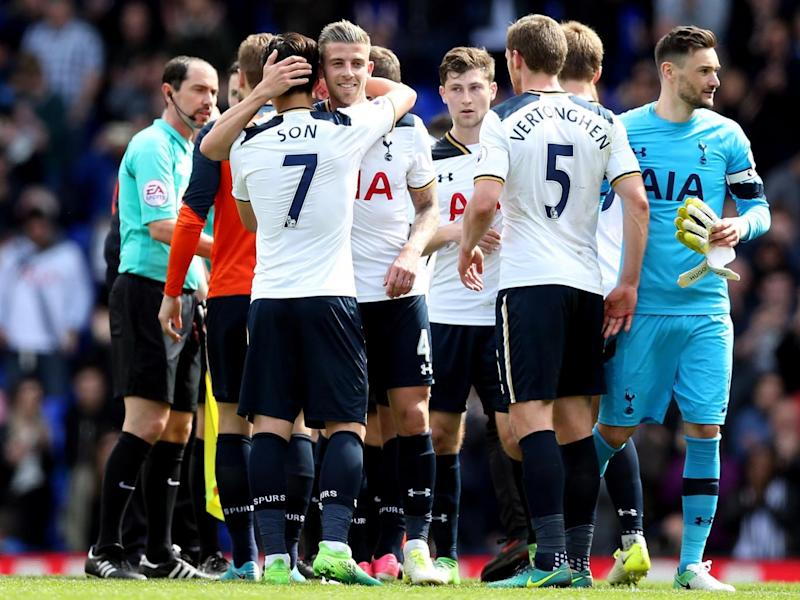 Tottenham have closed the gap at the top to a mere four points (Getty)