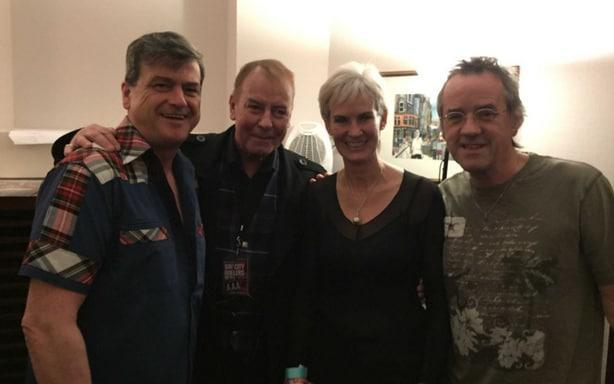 Judy Murray with the Bay City Rollers. Les McKeown, far left, died this week