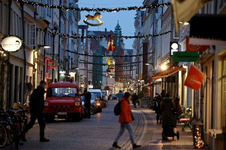 There was little festive cheer in many German cities as non-essential businesses were shuttered to slow the spread of the coronavirus