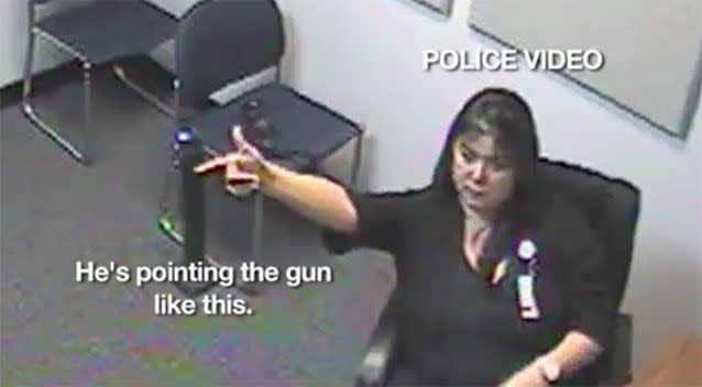Police footage shows hospital staff recalling the incident. Photo: KPRC