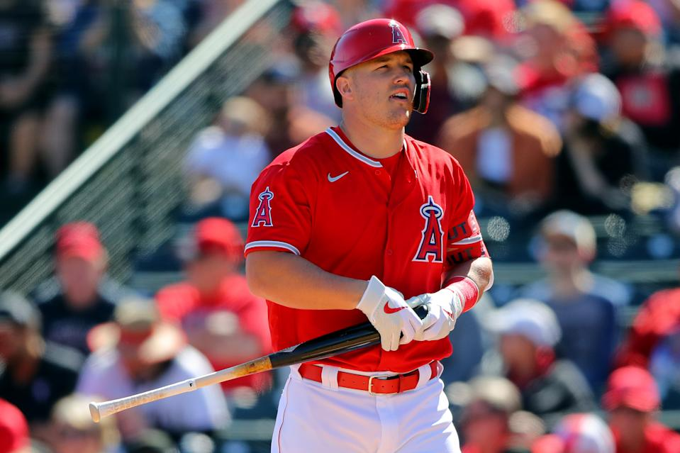 The Angels have placed Mike Trout on the paternity list. (Alex Trautwig/MLB Photos via Getty Images)