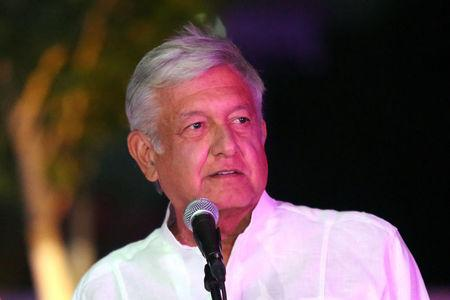 Leftist front-runner Andres Manuel Lopez Obrador of the National Regeneration Movement (MORENA) delivers a message after arriving at the third and final debate in Merida, Mexico June 12, 2018. REUTERS/Lorenzo Hernandez