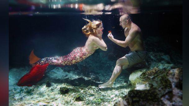 PHOTO: Eric Martinez and Cammy Rynae Cuoco celebrated their engagement with a whimsical mermaid-themed photo shoot by Del Sol Photography. (Photo by Del Sol Photography)