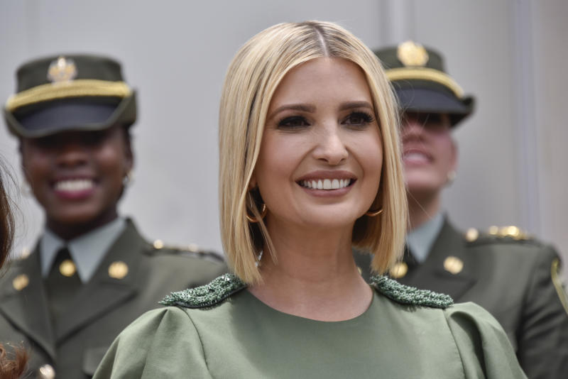 Ivanka Trump has debuted a new bob look while in Columbia. Photo: Getty Images