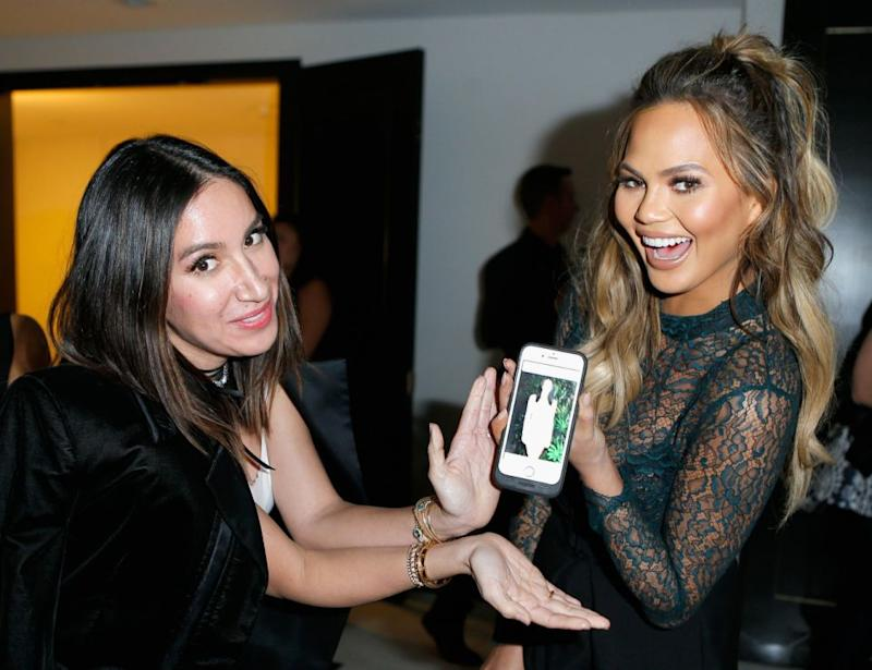 She also lists Chrissy Teigen as one of her clients. Photos: Getty Images