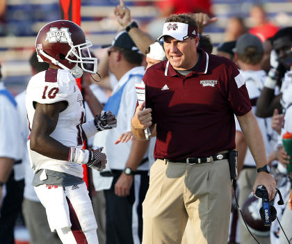 Will Dan Mullen and Mississippi State knock off a Texas A&M team taken to the brink by Arkansas last week? (AP)