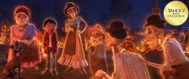"<p>Stock up on the hankies, because <a href=""https://www.yahoo.com/movies/tagged/pixar"" data-ylk=""slk:Pixar"" class=""link rapid-noclick-resp"">Pixar</a> is back. This technicolor <em>Día De Los Muertos</em> reverie focuses on a guitar-slinging boy who, along his trusted pup, is transported to the Land of the Dead, where he'll unlock secrets about his <em>familia</em>. 