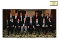 A $150 million bribery scandal rocked the football world in 2015 with the arrests of dozens of soccer executives -- many of them Latin American; Sergio Jadue is second from right in the back row in this 2012 pic of the Conmebol executive committee