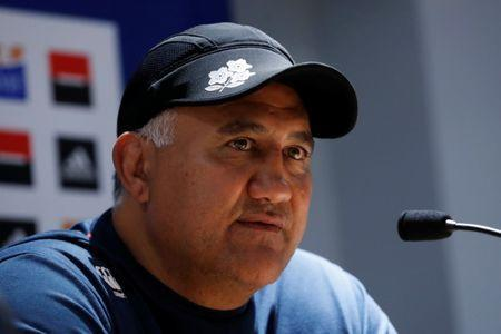 FILE PHOTO: Rugby Union - Japan News Conference - U Arena, Nanterre, France - November 24, 2017. Japan's head coach Jamie Joseph during the news conference. REUTERS/Gonzalo Fuentes