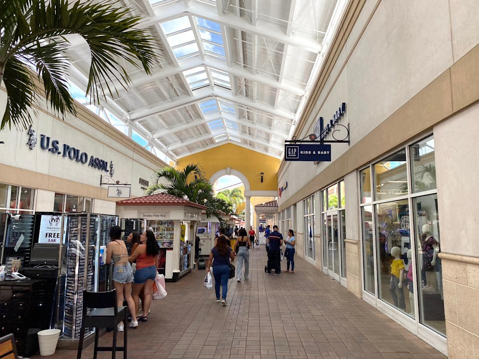 A view of the Orlando Premium Outlets in Florida.