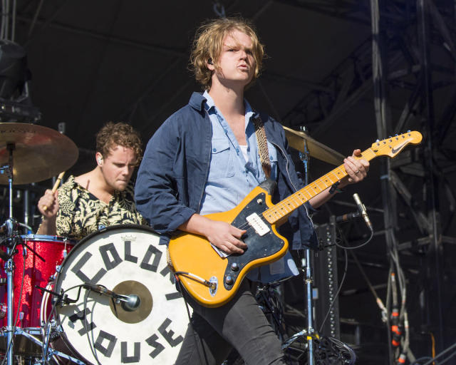 <p>NEW ORLEANS, LA – OCTOBER 28: Will Chapman (L) and Caleb Chapman of Colony House perform during the 2017 Voodoo Music + Arts Experience at City Park on October 28, 2017 in New Orleans, Louisiana. (Photo by Erika Goldring/Getty Images) </p>