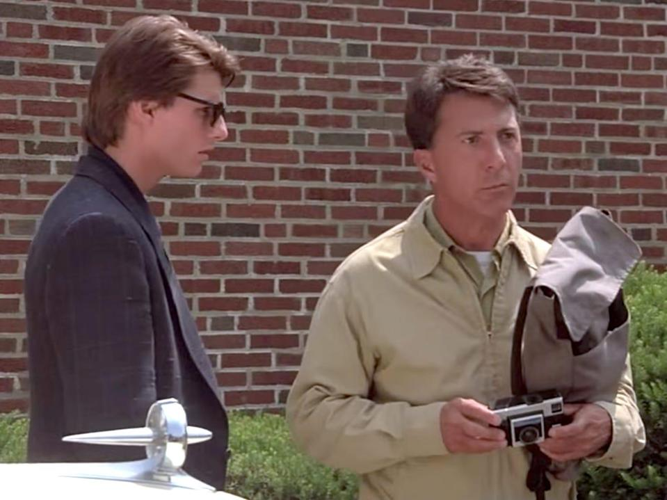 Rain Man Tom Cruise and Dustin Hoffman 1988 best picture movie