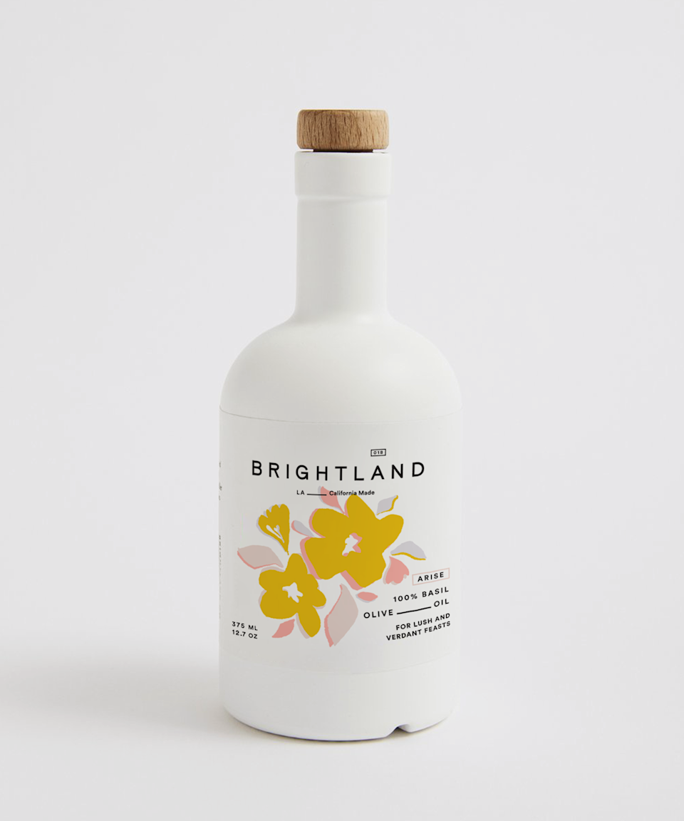 """<p><strong>Brightland</strong></p><p>brightland.co</p><p><strong>$40.00</strong></p><p><a href=""""https://go.redirectingat.com?id=74968X1596630&url=https%3A%2F%2Fbrightland.co%2Fproducts%2Farise&sref=https%3A%2F%2Fwww.bestproducts.com%2Feats%2Ffood%2Fg2079%2Ftasty-food-gifts-for-foodies%2F"""" rel=""""nofollow noopener"""" target=""""_blank"""" data-ylk=""""slk:Shop Now"""" class=""""link rapid-noclick-resp"""">Shop Now</a></p><p>Made for serving alongside crusty bread, fresh fruit, and cheese, Brightland's newest, basil-infused olive oil is incredibly tasty. ARISE is blended with basil and hand-picked heirloom Frantoio olives and is smooth, herbaceous, and just slightly peppery.</p><p>With hints of mint and clove, this olive oil will intensify the flavor of any green salad or pasta dish this season.</p>"""